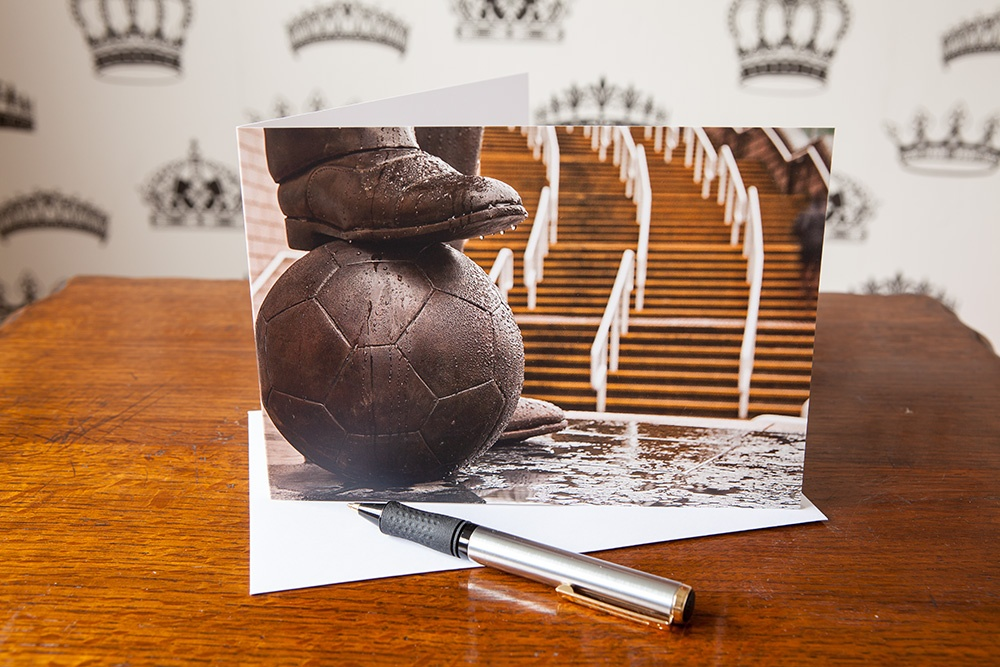 On the ball greetings card
