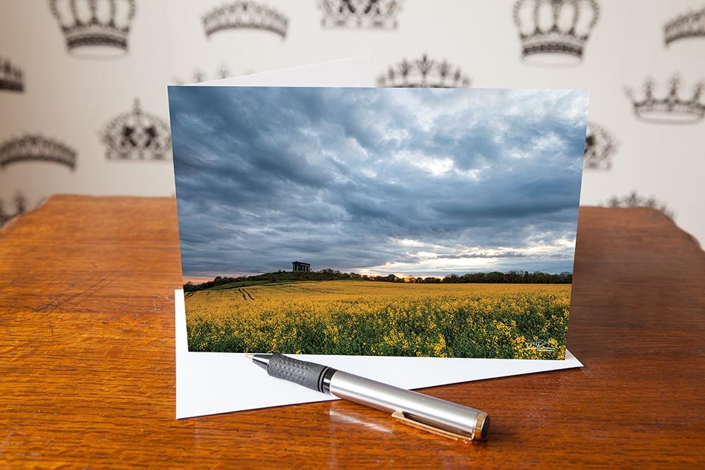 Summer Storm Penshaw, Penshaw Monument, Sunderland, Tyne & Wear, Greetings Card