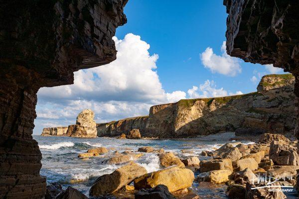 Inside Marsden Rock