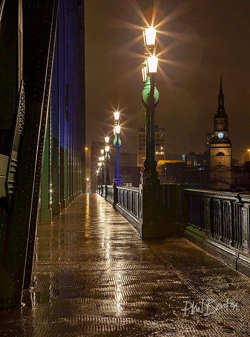 Night Lights Tyne Bridge, Newcastle Upon Tyne