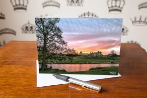 Magical Light Alnwick Castle Greetings Card. This photo includes a picture of Alnwick Castle Northumberland