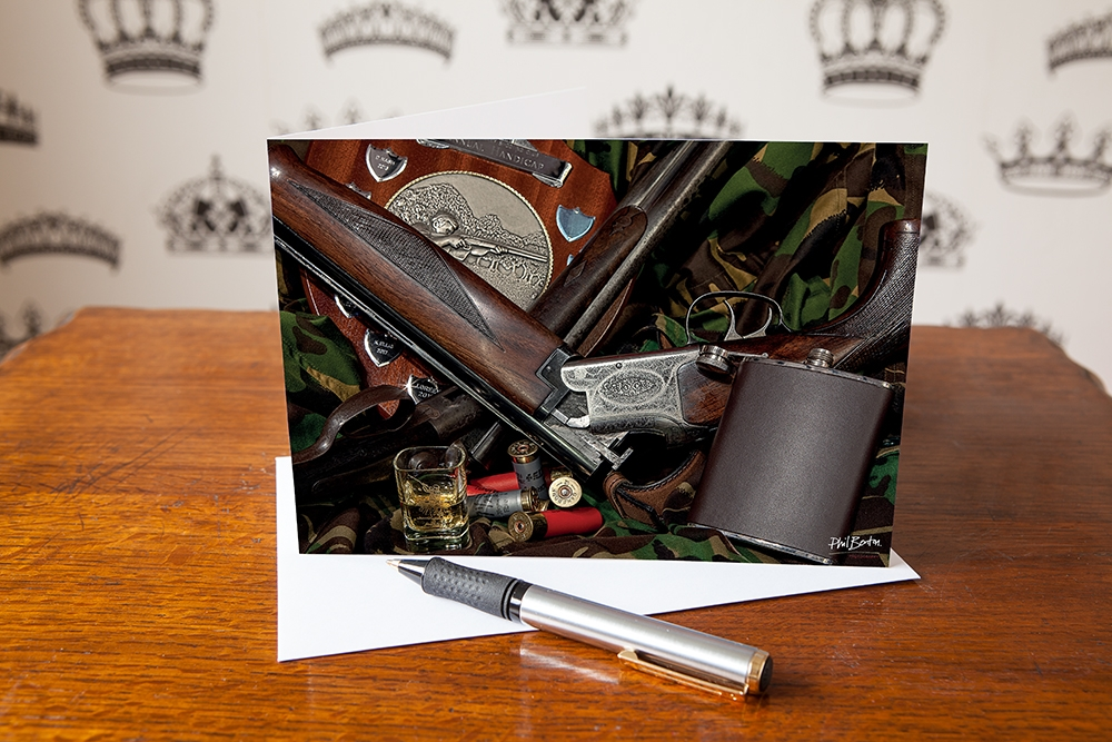 Guns, Cartridges and a Wee Dram Greetings Card